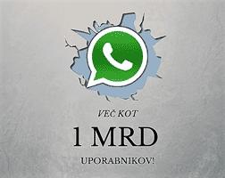 whatsapp podrl lastni rekord