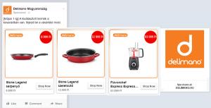 primer Facebook oglasa za dinamični remarketing