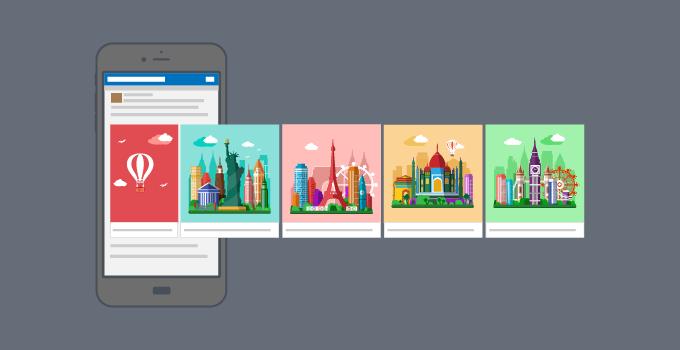 Kaj je Facebook carousel oglas?