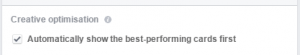 optimizacija facebook carousel oglasa