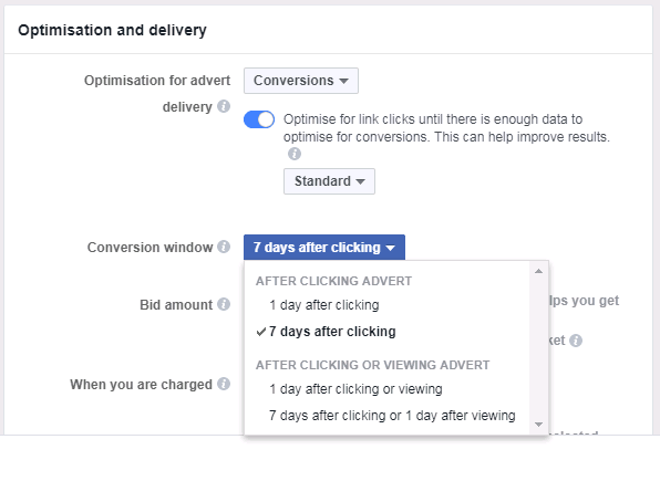kako nastavimo optimizacijo Facebook konverzij