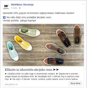 desktop newsfeed oglasna umestitev
