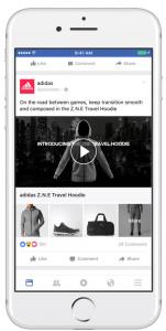 primer mobilnega facebook oglasa
