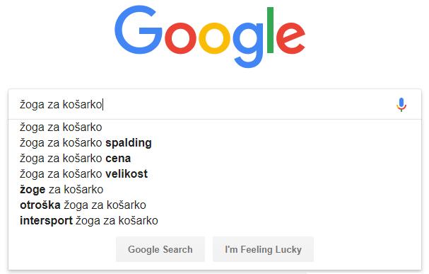 kako raziščemo ključne besede na iskalniku Google