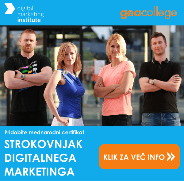 Prijavi se na te�aj strokovnjak digitalnega marketinga na Gea College