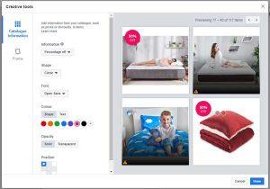 urejanje dinamičnih facebook kreativ
