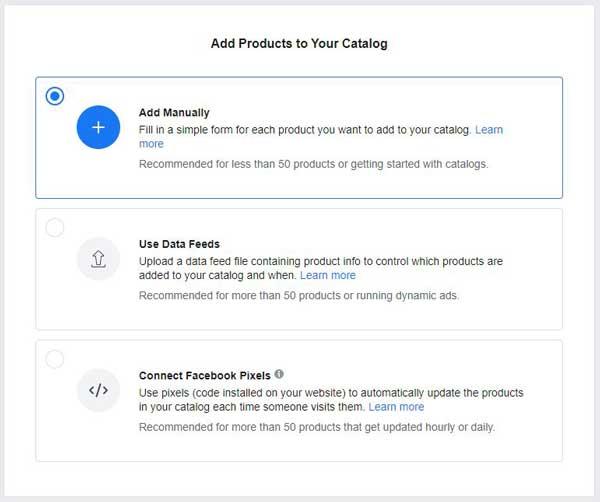kako dodamo izdelke v facebookov katalog izdelkov