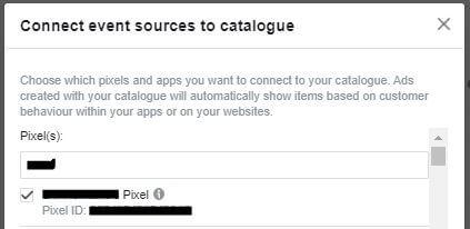 povezava kataloga s facebook pixelom