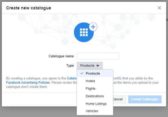 nastavitev novega kataloga