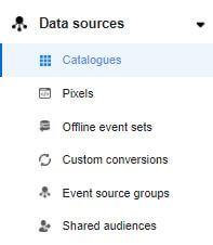 kje začnemo pripravljati Facebook katalog v business mangerju
