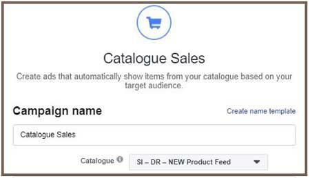 kateri tip kampanje moramo izbrati za dinamični facebook remarketing